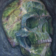 Crystal skulls series - Blue skull