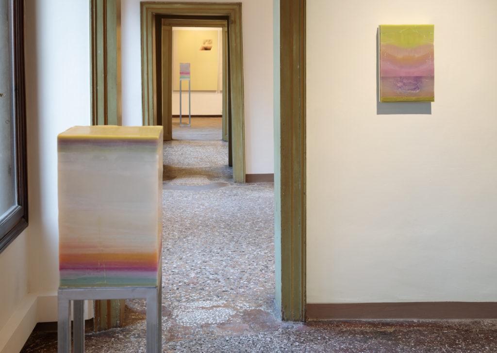 Installation view of Tensioni Superficiali collective exhibition.